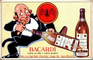 Bacardi Rum - Advertising - POSTCARD - PC - BOTTLES - HUMOR - VINTAGE