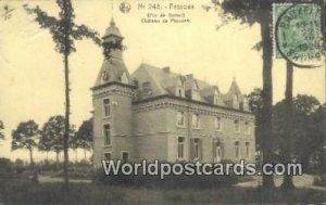 Chateau de Pesesse Pessoux, Belgium 1920 Stamp on front