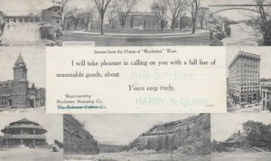 ROCHESTER, New York, 1907; Scenes from the Home of Rochester Ware, 8-views