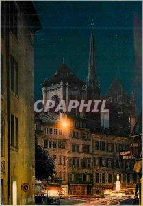 Modern Postcard Geneva's Old Town