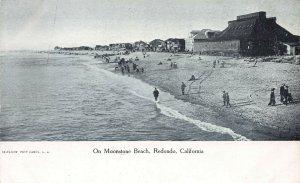 On Moonstone Beach, Redondo, California, Early Postcard, Undivided Back, Unused