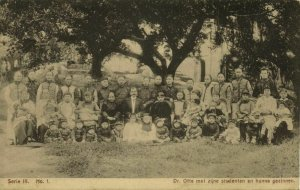 china, AMOY XIAMEN, Missionary Otte with Students (1910s) Mission Series III-1