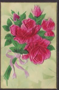 Roses,Applique Postcard