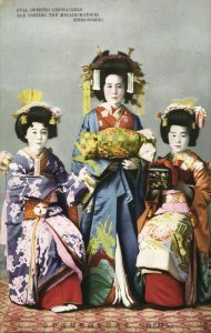 japan, SHIMONOSEKI, Full dressed Geisha Girls visiting Mikado Matsuri (1920s) 2