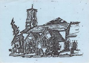 Postcard Art Sketch RADIPOLE St. Ann's Church, Weymouth, Dorset #R