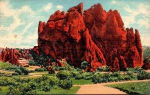 Colorado Colorado Springs Garden On The Gods Massive North Gate Rock Curteich