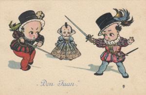 Don Juan, Two boys sword fight over princess, 1900-10s