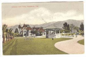 Library and Park,Pasadena,California,PU-1908