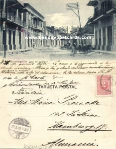 colombia, BARRANQUILLA, Calle del Comercio (1905) Stamp