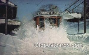 MBTA Snow Plow Blizzard 1978 Newton, Massachusetts, USA Newton, Massachusetts...