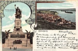Germany Ruedesheim 1904 chromo postcard