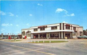 St Anthony IN Hasenour Motor Co. Used Cars Dealership Gas Station Postcard