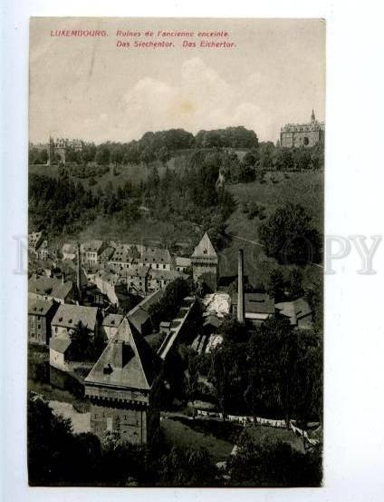 158207 LUXEMBOURG Ruins of ancient wall Vintage RPPC