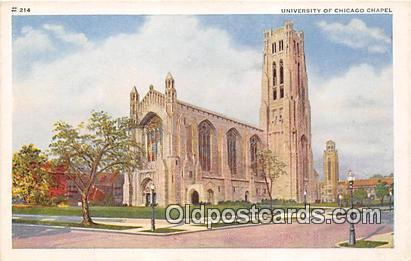 Churches Vintage Postcard Chicago, USA Vintage Postcard University of Chicago...