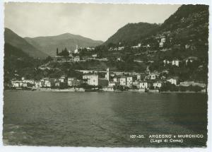 Italy, Argegno e Muronico, Lago di Como, unused real photo