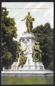 Statue General Lafayette Washington DC Unused c1910s