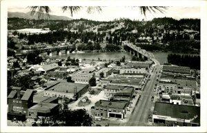 Vtg Postcard RPPC 104-s Bonners Ferry Idaho ID Aerial Bird's Eye View UNP