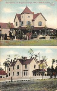 Southern Pines North Carolina~The Wheeler Hotel~Highland Lodge~Split View~1908