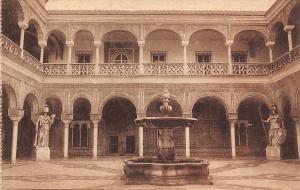 Spain Sevilla - Casa de Pilatos, Patio, fountain, Postcard