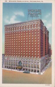 Pennsylvania Philadelphia Benjamin Franklin Hotel Curteich