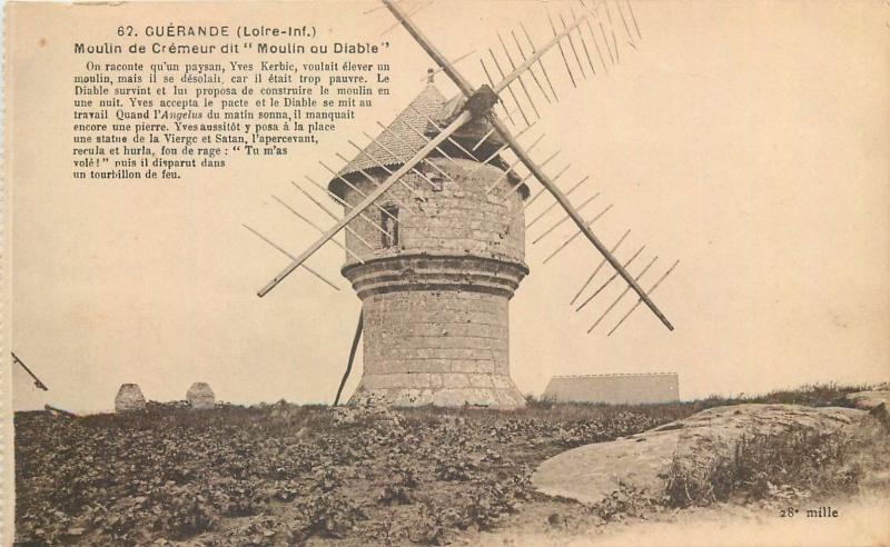 France Guerande Moulin du Diable Devil `s Mill