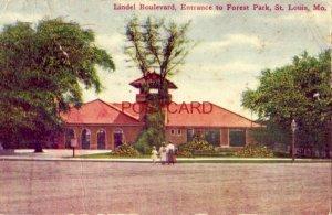 1909 LINDEL BOULEVARD, ENTRANCE TO FOREST PARK, ST. LOUIS, MO.
