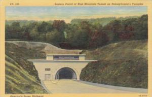 Pennsylvania Turnpike Eastern Portal Of Blue Mountain Tunnel Curteich