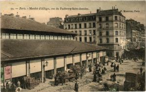 CPA PARIS (12e) Rue du Faubourg St-Antoine. Marche d'Alligre (539112)