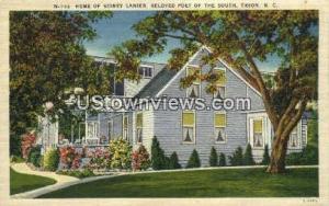 Home of Sidney Lanier Tryon NC Unused