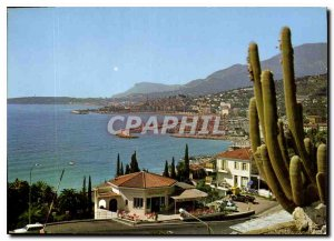 Postcard Moderne Menton General view on the New and Old Port management of Fr...