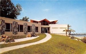 Clearwater Florida~Chamber of Commerce Building~1950s Postcard