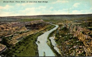 Texas Sunset Route Pecos River As Seen From High Bridge Curteich