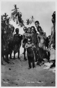 Ghana Gold Coast Natives ,child his first penny Postcard