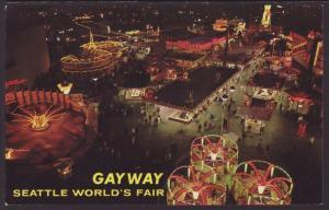 Night on the Gayway,Seattle World's Fair Postcard