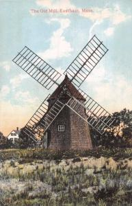 EASTHAM MASSACHUSETTS~THE OLD MILL~H A DICKERMAN & SON PUBL POSTCARD 1910s
