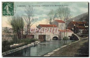Postcard Old water mill Cahors Cabessut suburb and windmill Coty