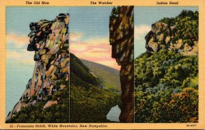 New Hampshire White Mountains Franconia Notch The Old Man The Watcher & India...