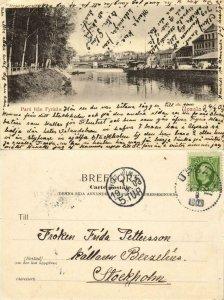sweden, UPSALA, Parti från Fyrisån (1903) Postcard