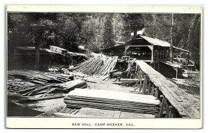 Saw Mill, Camp Meeker, CA Postcard *7E10