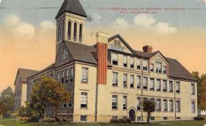 Philipsburg Pennsylvania Public School Building Antique Postcard K34861
