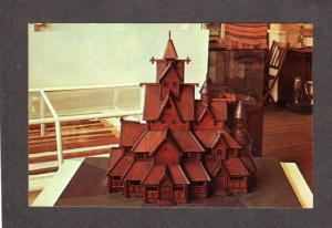 IA Norwegian Stave Church Hitterdal Museum Decorah Iowa Postcard