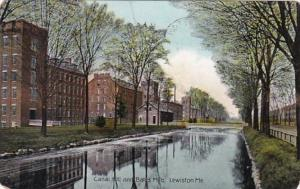 Maine Lewiston Canal Hill and Bates Mills 1907
