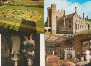Oxburgh Hall Saloon Painting Garden Library 4x Swaffham Norfolk Postcard s