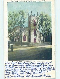 Pre-1907 BUILDING SCENE Lowell - Near Boston Massachusetts MA AE9106
