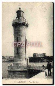 Old Postcard Marseille Lighthouse Ste Marie