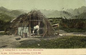 south africa, Western Cape, Hex River Mountains, Native Hut (1909) Postcard