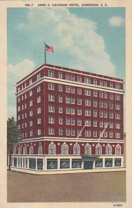 South Carolina Anderson John C Calhoun Hotel 1941