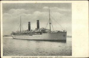 Union Castle Line Royal Mail Steamer Kenilworth Castle Steamship Postcard