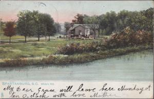SPARTANBURG - WHITES MILL ... View shows the old grist mill and farm site, 1900s