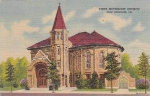 Louisiana New Orleans First Methodist Church Curteich